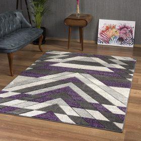 purple rug pattern grey
