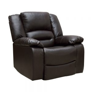 1 seater recliner brown leather