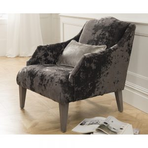 chair accent velvet charcoal