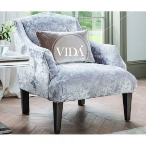 champagne accent velvet chair
