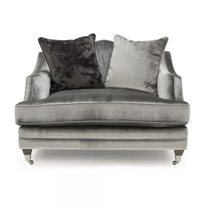 pewter velvet chair snuggle