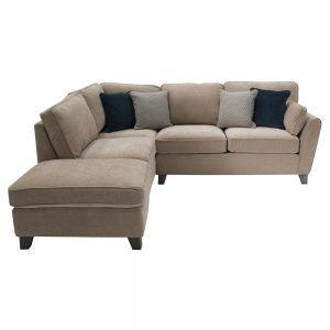almond corner group sofa beige