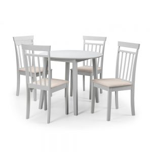 white dining wood table