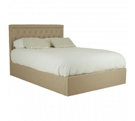 beige ottoman bed