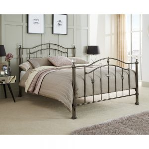 metal bedstead crystal black nickel