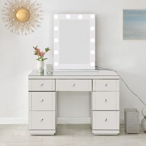 hollywood glass diamante dressing table mirror