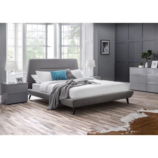 grey stylsh modern bed