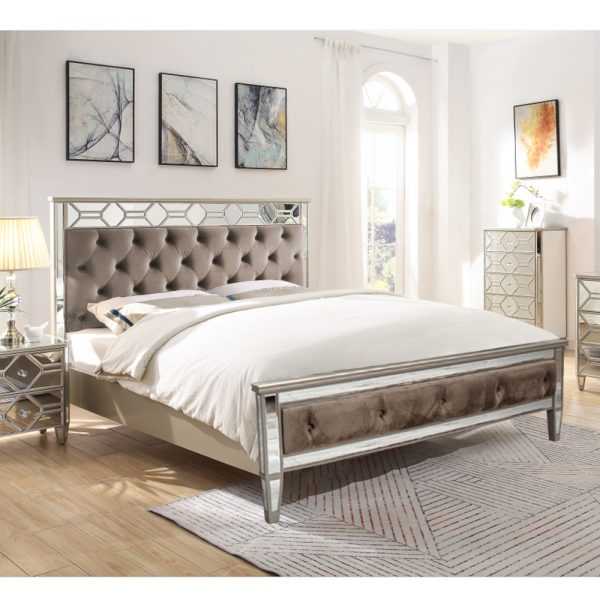 bed fabric upholstered