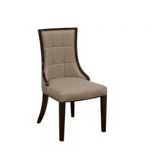 latte leather beige dining chair