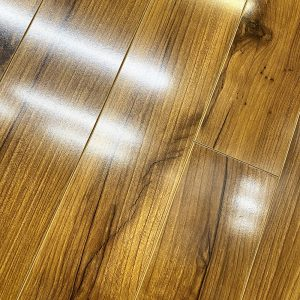 american walnut laminate gloss floor varnished