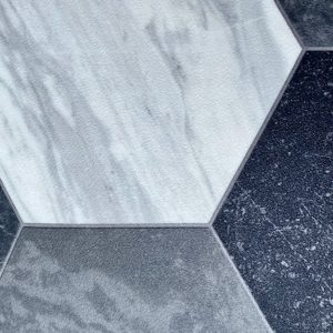 white grey black viny floor pattern geometirc