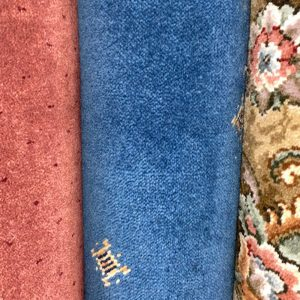 axminster blue motif carpet remnant discount roll end