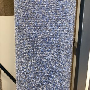 blue rib carpet contract remnant sale roll end